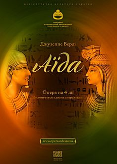 Poster for the opera Aida