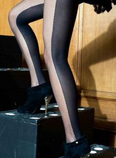 d270a1f4b two-tone tights 1920s Trends