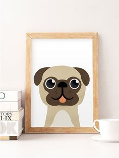 Pug Print, Pug Puppy, Dog wall art, Animal wall art, Pug wall art, Cute, Nursery Animal Print, Baby boy Nursery, Animal Print, Children art --------------- Cute print perfect to decorate your nursery! ▲ Printed on 270gsm satin, acid-free paper using professional printers, colors dont Baby Prints, Nursery Prints, Nursery Art, Wall Art Prints, Dog Nursery, Painting For Kids, Art For Kids, Animal Nursery, Baby Boy Nurseries