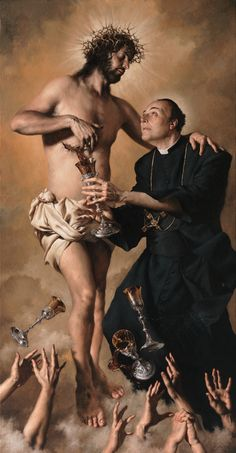 4 of cups. Catholic Art, Catholic Saints, Religious Art, Ridiculous Pictures, Jesus Art, Biblical Art, Jesus Pictures, Sacred Art, Renaissance Art