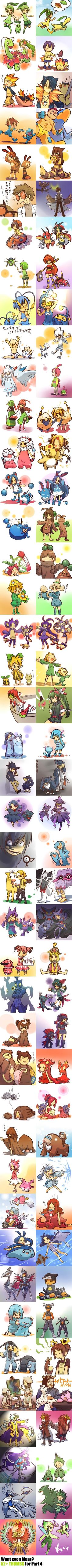 Pokémon evolving with their trainers... ADORABLE! I had my own idea similar to this for Halloween someday, with a cosplay-like thing based off one of my favorite Pokémon. I had Dratini, Riolu, Dragonite, Lugia or Torchic in mind. :)
