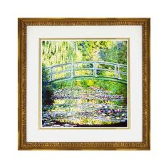 I pinned this Monet The Waterlily Pond with the Japanese Bridge Framed Print from the APF Munn event at Joss and Main!