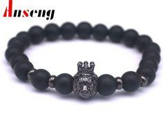 Fashion Black Stone Charm Men Bracelets