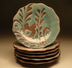 floral plate by lorettal on Etsy, $48.00
