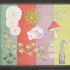 Frolic by DaydreamersDesigns.  PNG images - 4 Papers in the Pack , and 15 PNG Elements .