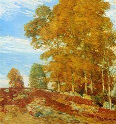 Childe Hassam Autumn Hilltop, New England 1906