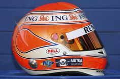 Nelson Piquet Jr. - 2009 Renault F1 Racing Helmets, F1 Racing, Bell Helmet, Helmet Paint, Formula 1 Car, Helmet Design, Father And Son, Race Cars, Fans