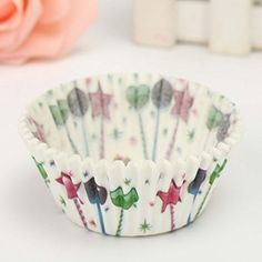 100Pcs Party Cupcake Paper Muffin Cup High Temperature Baking Cup ** Click image to review more details.