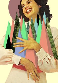 Work by graphic designer and collage artist Ashley Edwards based in UK, London