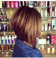 long angled bob Cut with only my razor