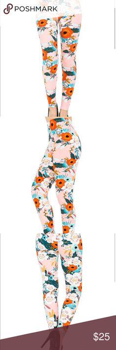Leggings Grab these before they are all gone!!   Very soft material!!   Hummingbird/Floral Print Leggings Pants Leggings
