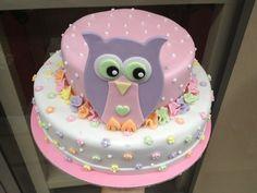 Τούρτες Γενεθλίων - Διόροφη Κουκουβάγια! #sugarela #TourtesGenethlion #owl #pink #BirthdayCakes