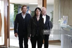 'His Thoughts Were Red Thoughts' -- Jane (Simon Baker, left) is reunited with his former nemesis, cult leader Bret Stiles (Malcolm McDowell, left), when the head of an anti-cult activist organization is murdered. Also pictured is Robin Tunney, on THE MENTALIST, Thursday, Feb. 23 (10:00-11:00 PM, ET/PT) on the CBS Television Network.
