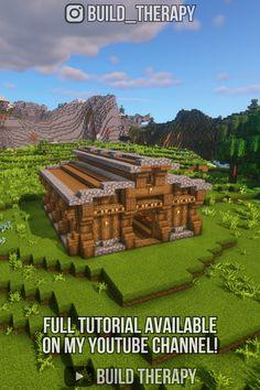 Minecraft Castle Blueprints, Minecraft House Plans, Minecraft Farm, Minecraft Houses Survival, Minecraft Cottage, Minecraft House Tutorials, Cute Minecraft Houses, Minecraft House Designs, Minecraft Construction
