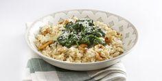Boodschappen - Risotto met champignons en spinazie