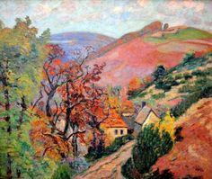 Armand Guillaumin - Mountain Landscape 1895  (Pontgibaud, le Hameau de Peschadoire)