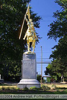 statues in oregon   Joan of Arc Statue, Laurelhurst, Portland