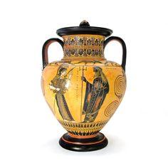 Black-figure amphora - dadart Greek Pottery, Black Figure, Corinthian, Mythical Creatures, 18th Century, Period, Illustration, Art, Art Background