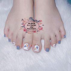 Pretty Toe Nails, Cute Toe Nails, Cute Toes, Pretty Toes, Ny Nails, Feet Nails, Swag Nails, Nail Art Designs Images, Nail Designs