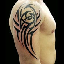 tribal tattoo ideas tribal on man shoulder. This looks like my 2nd sons tattoo!!!