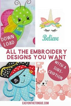 Download all the Embroidery designs you want with a subscription from Creative Fabrica.  The subscription includes all other graphics, fonts, clipart, svg's and patterns.  Save more than you can spend!  #machineembroidery #embroiderydesigns #creativefabrica Machine Embroidery Projects, Free Machine Embroidery Designs, Art And Craft, Paper Crafts, Diy Crafts, Sewing Projects For Beginners, Craft Projects, Craft Ideas, Small Gifts