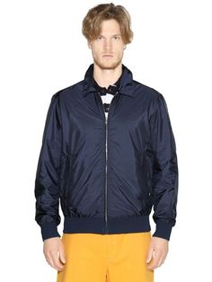 $554, Nylon Bomber Jacket by Paul & Shark. Sold by LUISAVIAROMA. Click for more info: http://lookastic.com/men/shop_items/177723/redirect