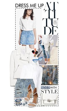 """""""Bright Whites & Denim Blues"""" by shortyluv718 ❤ liked on Polyvore featuring Marc by Marc Jacobs, MANGO, The Row, Alexander Wang, Yves Saint Laurent, Chinese Laundry, Gucci and Georg Jensen"""