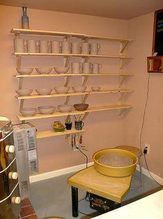 Studio - pottery corner:)