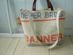 Large Canvas Grain Sack Tote/Day Trip/Weekend Bag by SewTrendy, $79.00