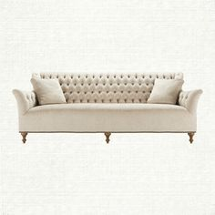 View the Fiona Sofa from Arhaus. Graceful tufting, an elongated back, gently flared arms and nailhead detail combine to create this stunning sofa.
