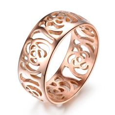OPK Fashion Jewellery Hot Sale Camellias Shape Hollow Rose Gold Plated Stainless Steel Women's Ring(With Gift Box,Best Gift!)----Size J 1/2 OPK http://www.amazon.co.uk/dp/B00KREON84/ref=cm_sw_r_pi_dp_Z1KAvb1P9Y83E