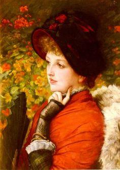 James Tissot - Type of Beauty (Kathleen Newton), 1880