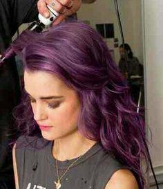 Next summer;  purple hair