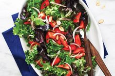 recipes for a baby shower. This mixed green salad with strawberry ...