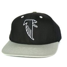 fa7b7a00215 ATLANTA FALCONS Retro Old School Snapback Hat - NFL Cap - 2 Tone Black Grey   Amazon.co.uk  Sports   Outdoors