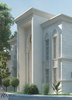 Arabic Villa on Behance Classic House Exterior, Classic House Design, Dream House Exterior, Modern House Design, House Outside Design, House Front Design, Architecture Design, Islamic Architecture, Villa Design
