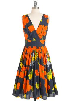 Glamour Power to You Dress in Garden, #ModCloth