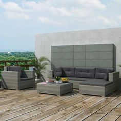 Poly Rattan Garten Sofa Set !Sitzgruppe Garten Garnitur Outdoor Lounge Möbel  Gartengarnituren #
