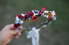 Haarblüten - Halbes Blumenkranz, Blumenkrone - ein Designerstück von magaela bei DaWanda