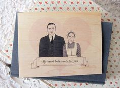 Hey, I found this really awesome Etsy listing at https://www.etsy.com/listing/122386851/downton-abbey-valentine-card-free
