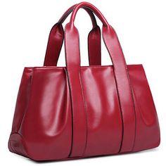 Solid Soft Genuine Leather Handbags with Interior Secret Pocket | Stylish Beth