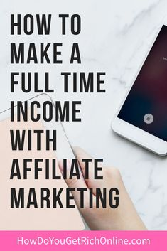How To Make a Full Time Income With Affiliate Marketing. Top affiliate marke… How To Make a Full Time Income Make Money Blogging, Make Money Online, How To Make Money, Earn Money, Money Tips, Amazon Affiliate Marketing, Online Marketing, Digital Marketing, Marketing Videos