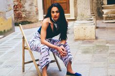 Bludegene jumpsuit  #jumpsuit #fashion #espadrilles #blu #blujeans #Venice #sea #waves #marinelookdress