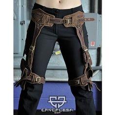 Raider Steampunk Harness - Cryoflesh.com