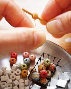 inspiration: miniature knitting yarn