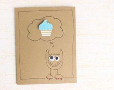 I Love You Little Monster Peek un Boo Card occhio di kraze4paper