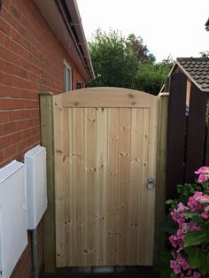 Pedestrian gate fitted by Atkinsons fencing Garden Fence Panels, Garden Fencing, Drive Gates, Wood Fence Gates, Garden Buildings, Tongue And Groove, Pedestrian, Outdoor Furniture, Outdoor Decor