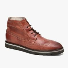 Mens Runako Leather Boots in Camel