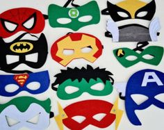 Super hero capes and face masks