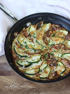 My Kitchen Addiction: Apple, Zucchini, and Cheddar Frittata  Fun to say - Fun to eat!